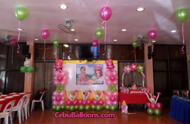 Aa barbeque guadalupe cebu balloons and party supplies for Balloon decoration for first birthday