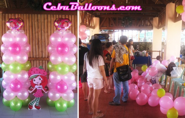 Strawberry Shortcake Balloon Decoration at Ocean Pearl Resort