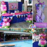 Strawberry Shortcake Balloon Decors with Party Supplies at Metro Park Poolside