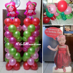Strawberry Shortcake Balloon Pillars, Standee & Stick Balloons for Julia Capin