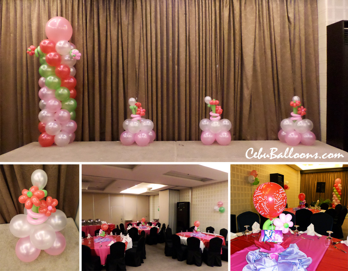 Strawberry shortcake cebu balloons and party supplies for Balloon decoration packages