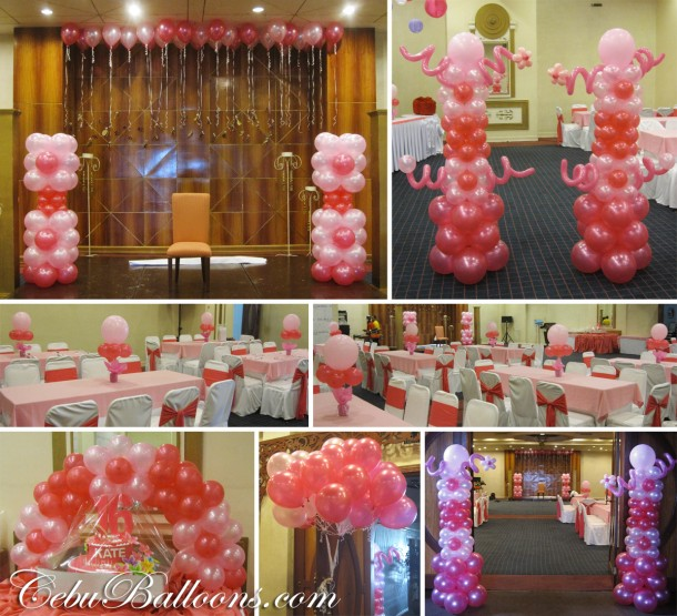 Debut 18th birthday sweet 16th birthday cebu for Balloon decoration packages manila