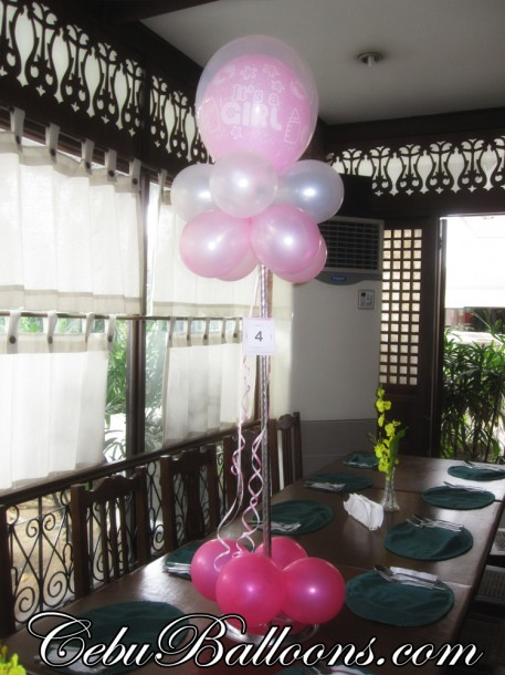 Tall Centerpiece Design for Christening at Patio Isabel