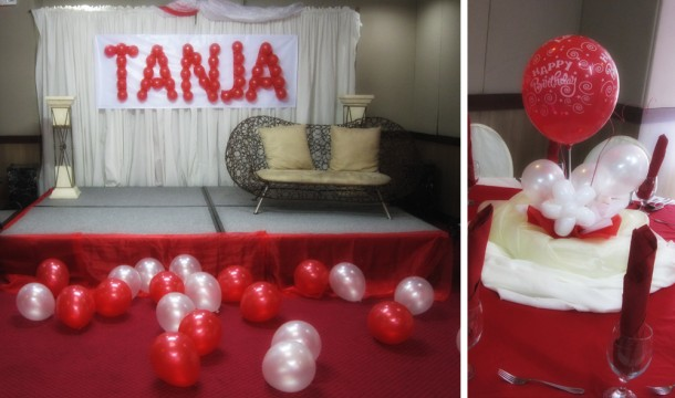 Debut Th Birthday Cebu Balloons And Party Supplies - Table decoration ideas for 18th birthday