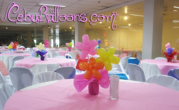 Three flowers Centerpieces at CICC