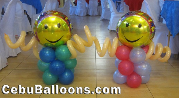 Three-layers Small Balloons with Smile and Twirl