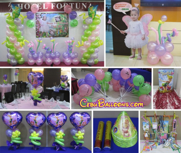 Tinkerbell Balloon Arrangement & Party Package at Hotel Fortuna