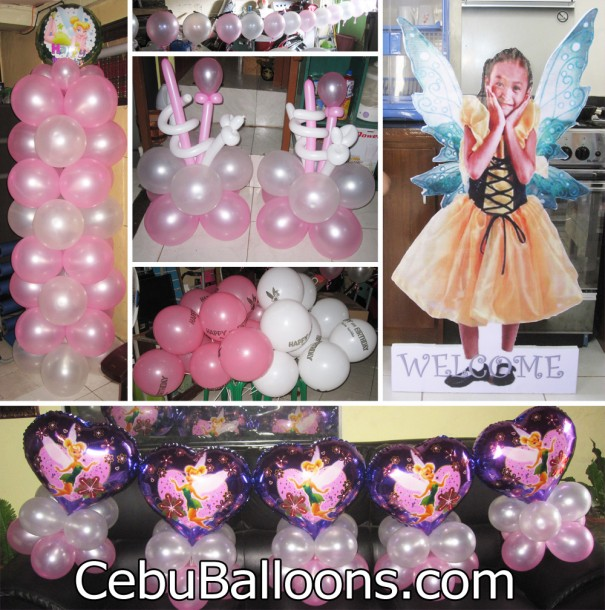 Tinkerbell cebu balloons and party supplies for Balloon decoration packages