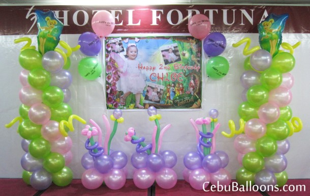 Tinkerbell Balloon Decoration at Hotel Fortuna