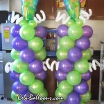 Tinkerbell Balloon Pillars
