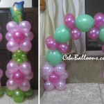 Tinkerbell Balloon Pillars and Cake Arch