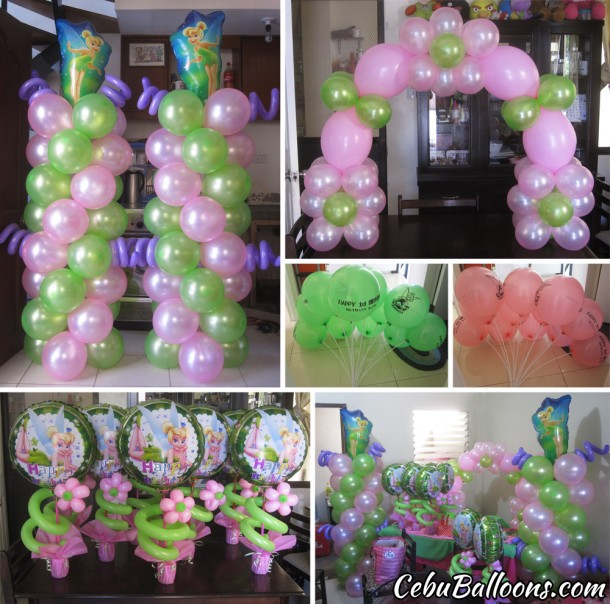 Tinkerbell Balloon Setup at Pacific Grande