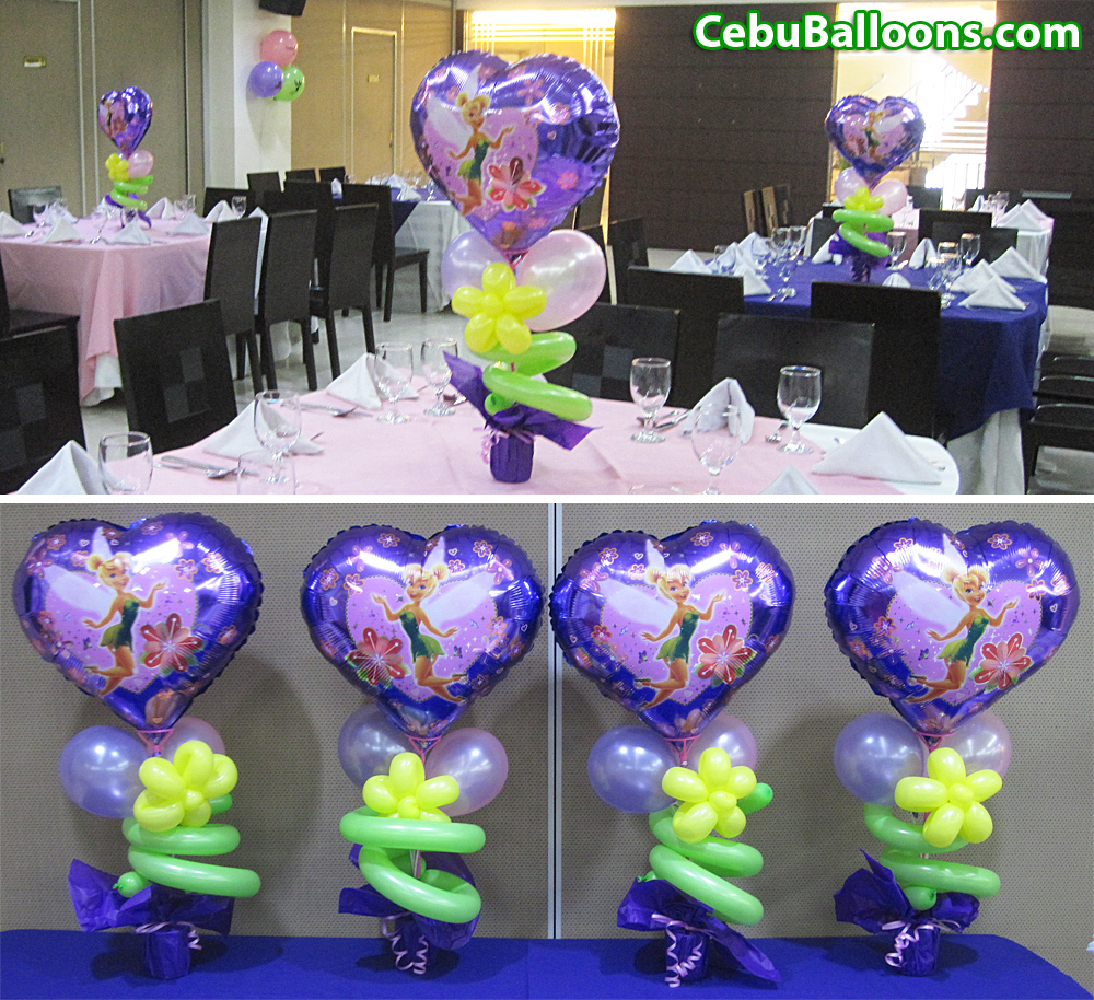 Tinkerbell cebu balloons and party supplies for Balloons arrangement decoration