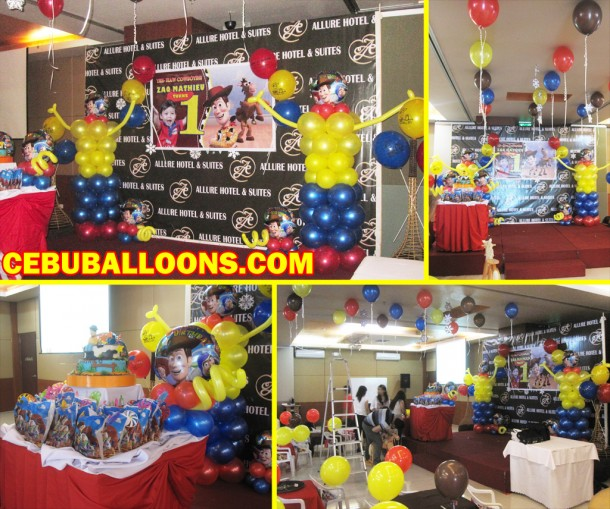 Toy Story Theme Balloon Decoration at Allure Hotel and Suites