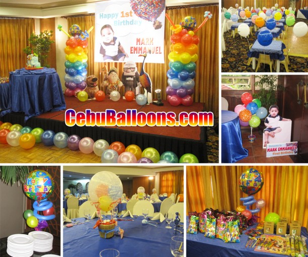 Up (The Movie) Balloon Decoration Setup for Birthday