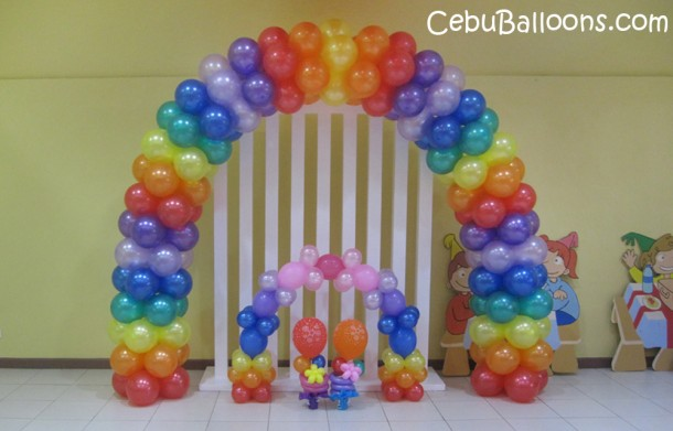 Up Theme Balloon Arch and Centerpieces