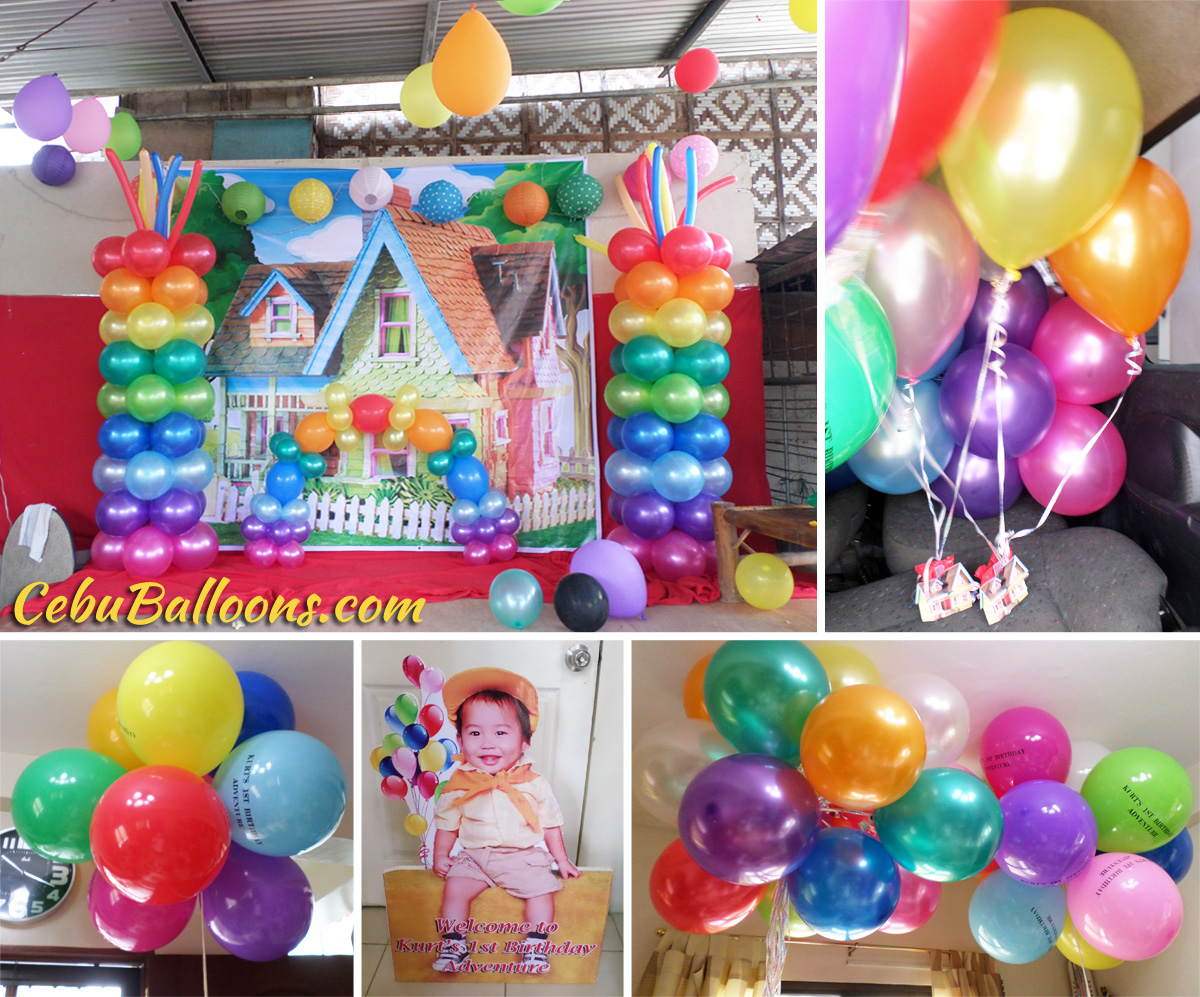Up cebu balloons and party supplies for Balloon decoration for first birthday