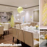 Yellow & White Flowers & Balloons for a Christening Party at Tsay Cheng Restaurant