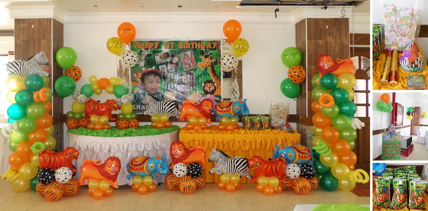 Safari cebu balloons and party supplies for Animals decoration