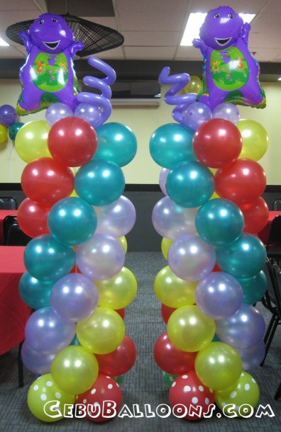 Barney cebu balloons and party supplies for Balloon decoration color combinations