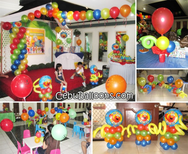 Elmo (Sesame Street) Balloon Decoration Setup at Metro Park Hotel