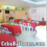 Jungle Safari Balloon Decors with Clown at AA's Barbeque (AS Fortuna)