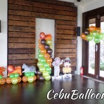 Jungle Safari Balloons with Standees at Monterrazas de Cebu