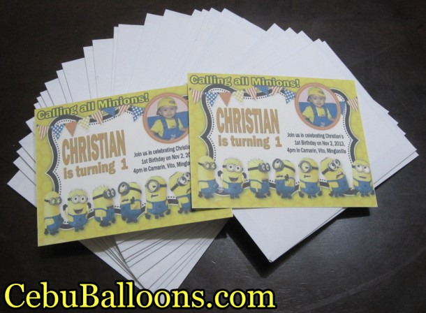 Minions Personalized Invitation