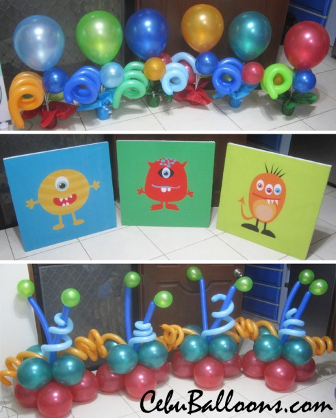 Monster Theme Balloon Decoration and Standees