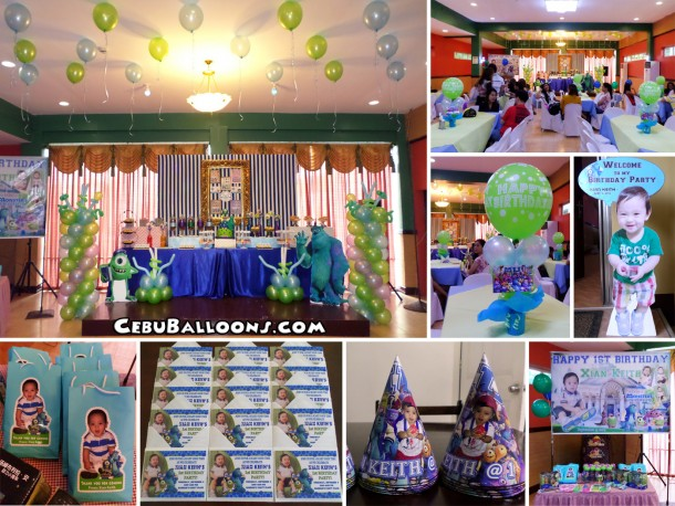 Monsters University Balloon Decoration & Kiddie Party Package at Hannah's Party Place (3rd Floor)