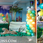 Safari Budget Balloon Decoration Package A at Seafood Island Rainforest