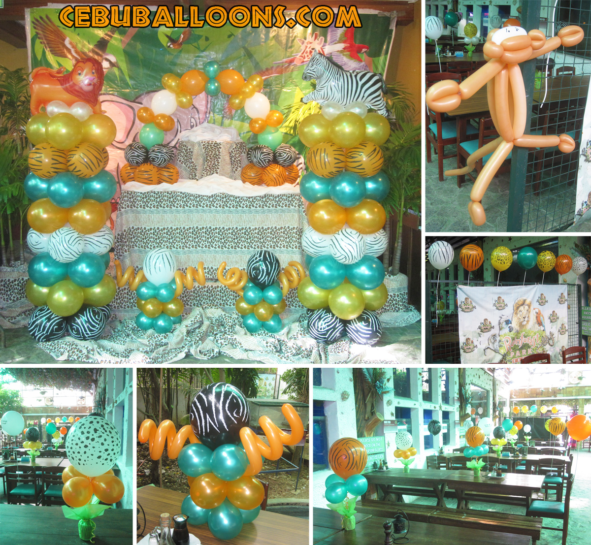 Safari cebu balloons and party supplies for Balloon decoration equipment