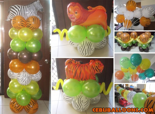 Safari Theme Budget Balloon Decoration at Tres de Abril