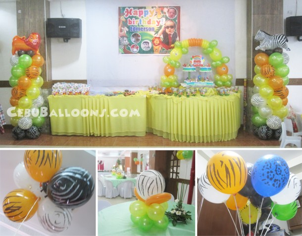 Safari Theme Sulit Balloon Decoration at Maria Lina Building