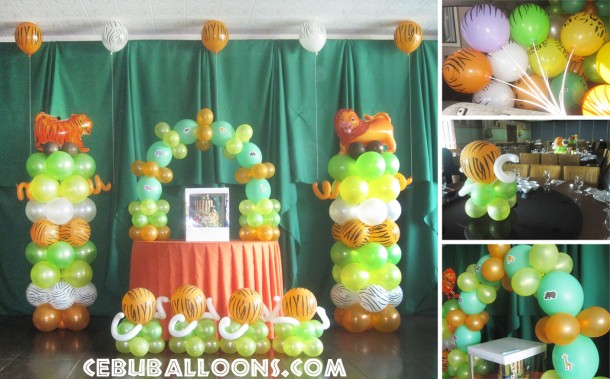 Safari-theme Balloon Arrangement at Ching Palace