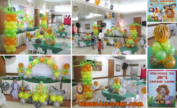 Safari-theme Balloon Decoration (Stage)