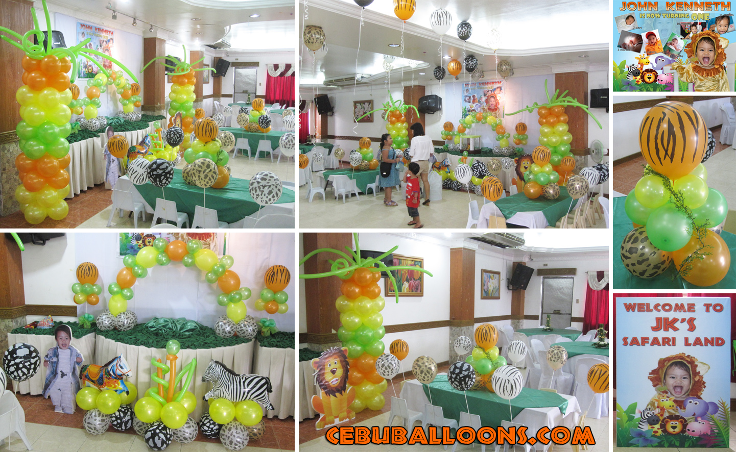 Safari Theme Balloon Decoration Stage Cebu Balloons
