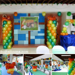 Safari theme decoration for a Double Celebration at San Pedro Calungsod Youth Center