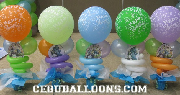 Table Decorations with Monster's University Printout