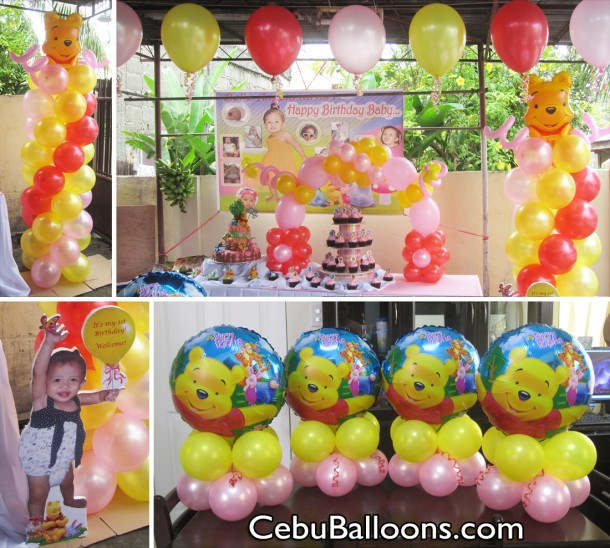 Pooh friends cebu balloons and party supplies for Balloon decoration packages