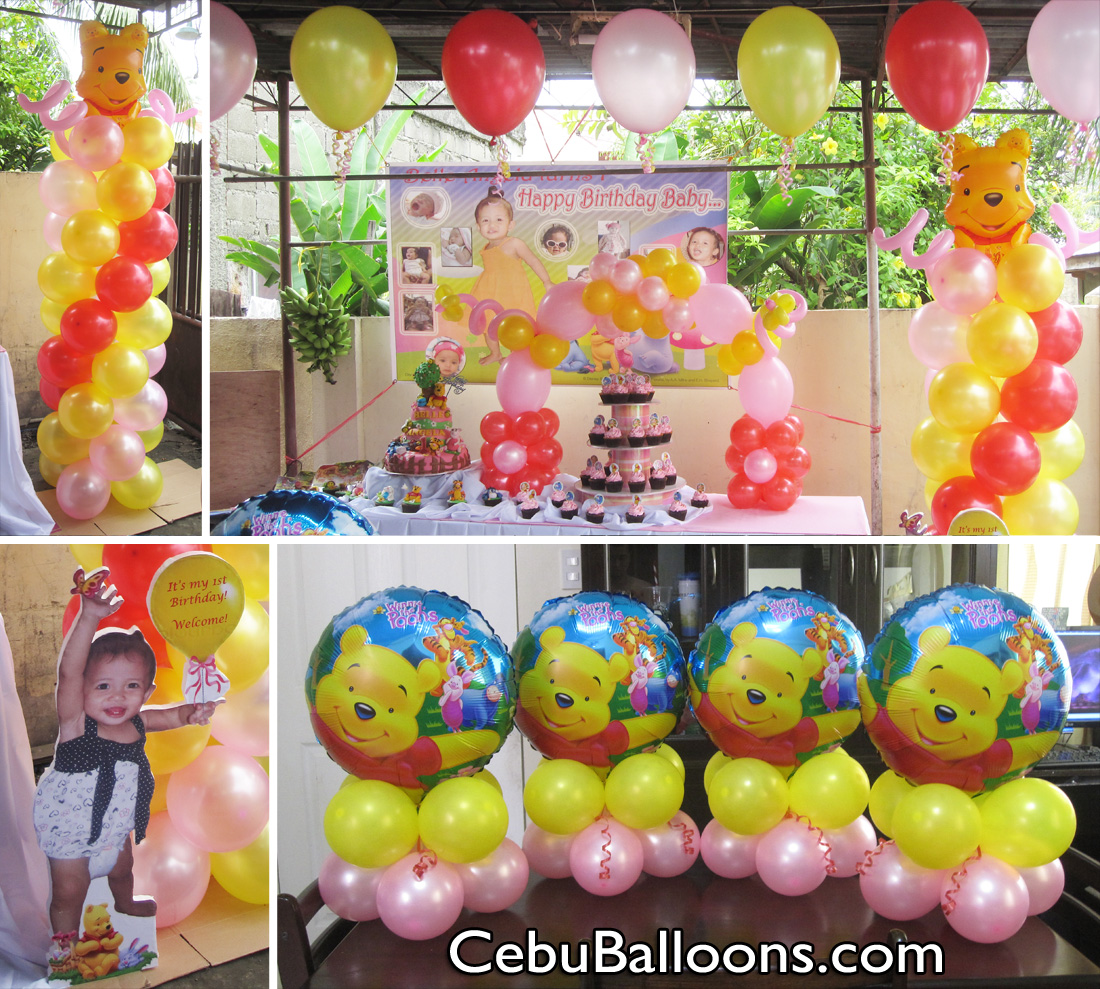 Winnie the pooh decorations 28 images baby shower for Balloon decoration packages manila