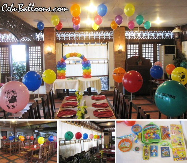 Winnie the Pooh Balloon Decors and prizes at Patio Isabel