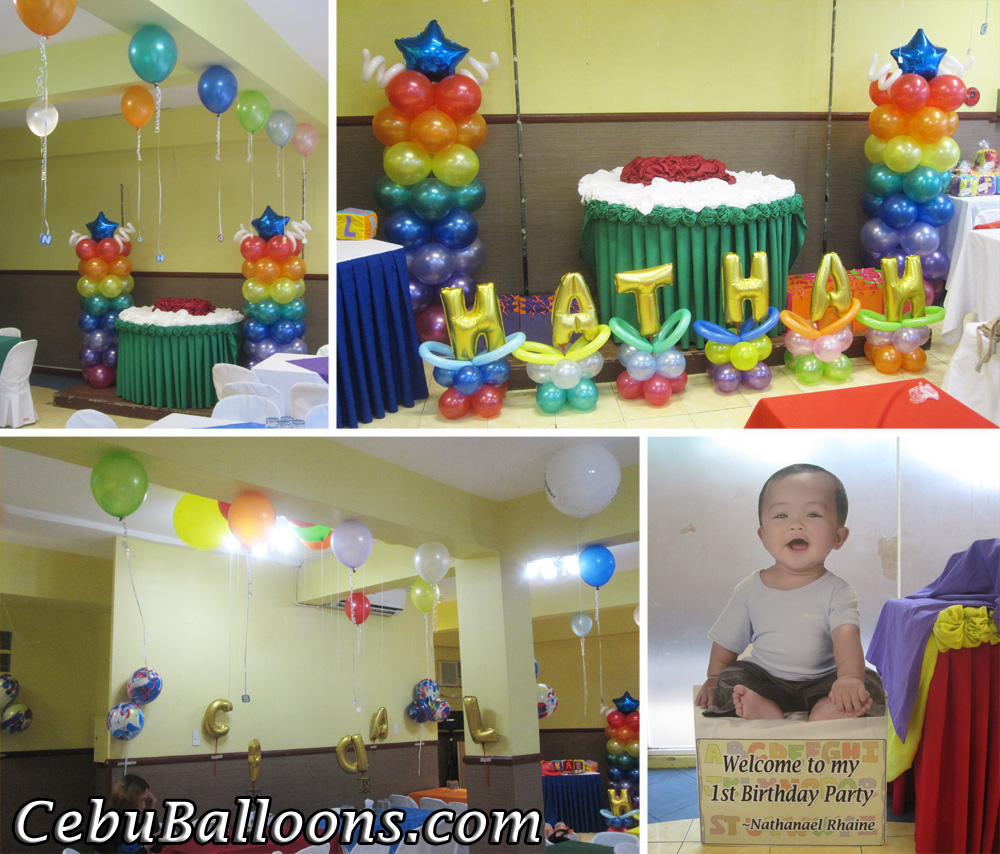 Alphabet theme balloon decoration package at hannah 39 s for Balloon decoration packages