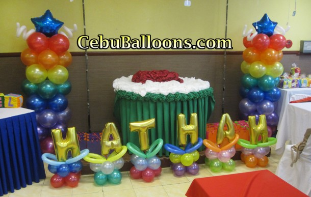 Alphabet Theme Balloon Decoration at Hannah's Party Place