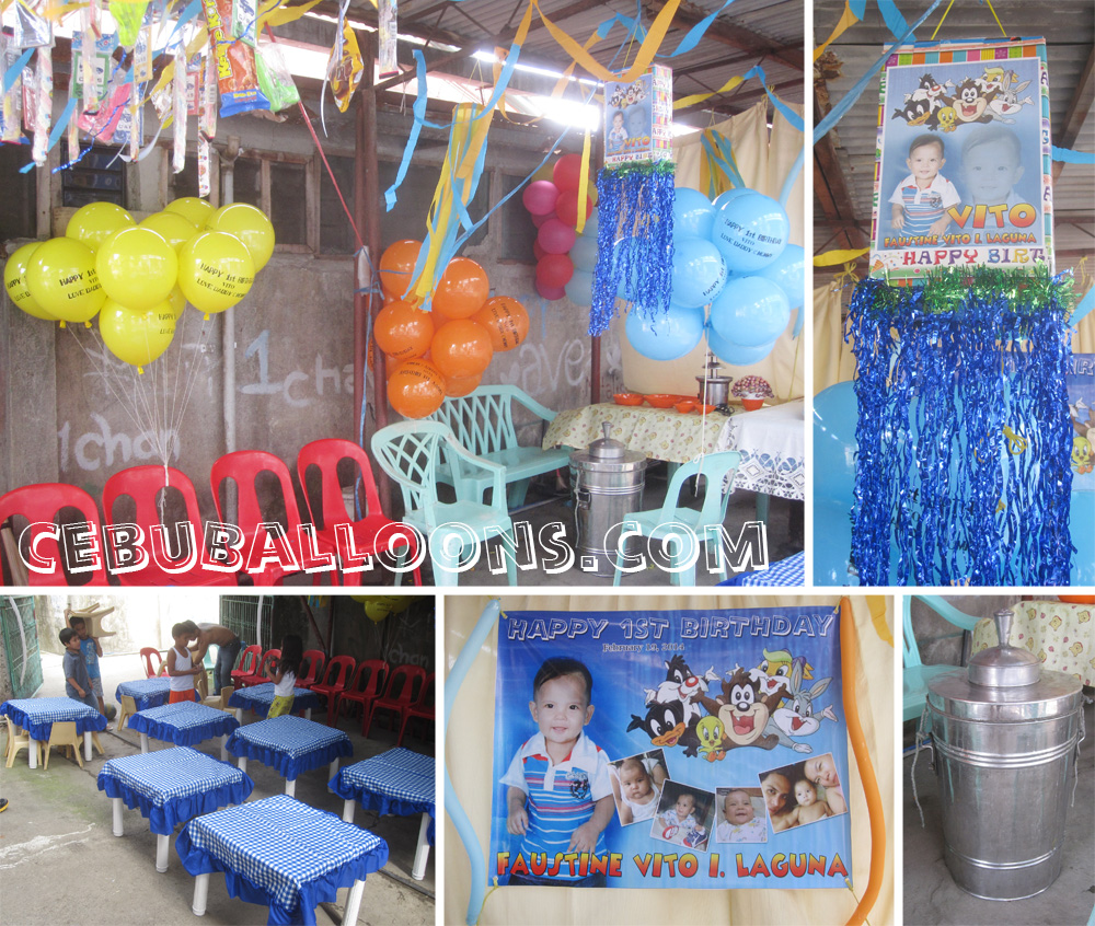 P2 000 value packages cebu balloons and party supplies for Baby looney tune decoration