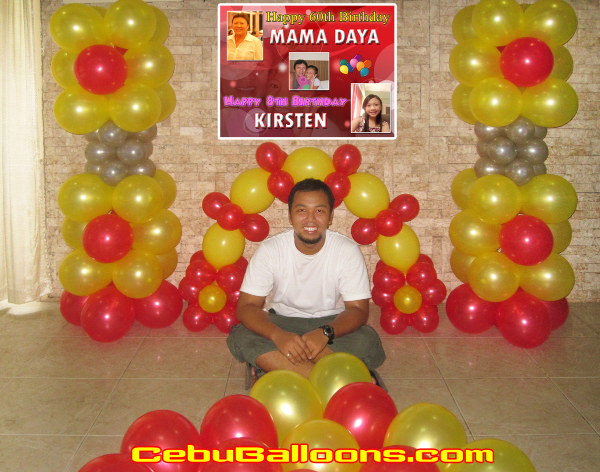 Balloon Decors for a 60th 8th Birthday Party at Montebello Cebu