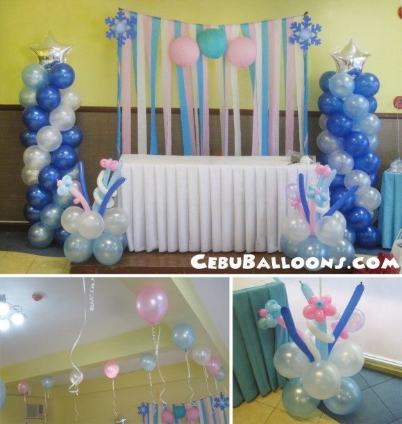 Blue & Pink Balloon Decors at Hannah's