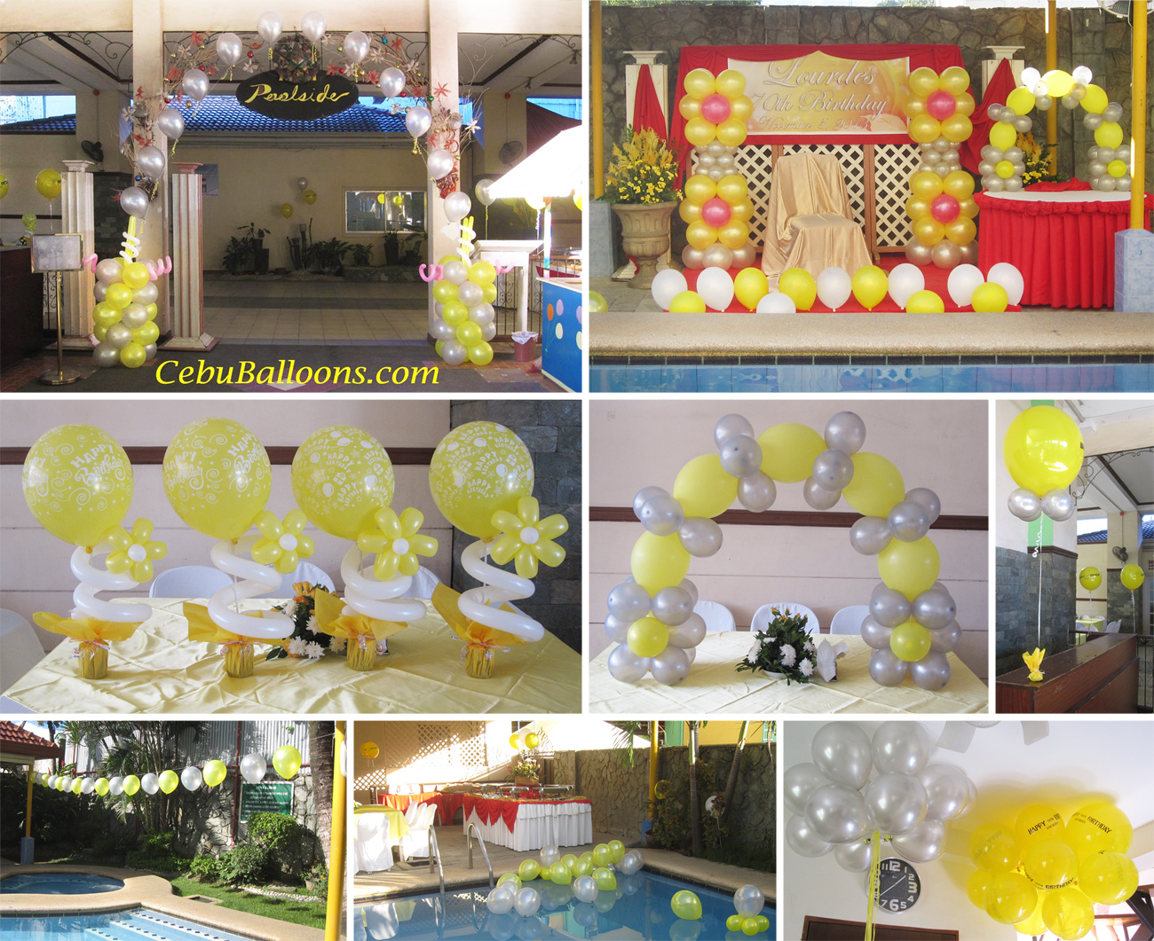 Decoration Package for a 70th Birthday Cebu Balloons and Party