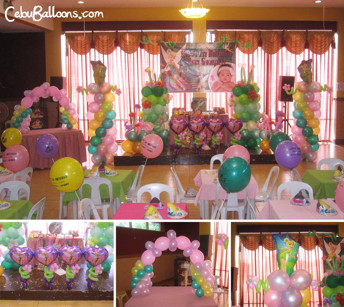 Hannah s party place balloon decoration party needs for Balloon decoration packages