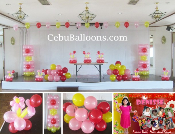 Flower Theme Balloon Decoration at Holiday Plaza Hotel